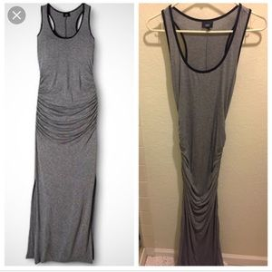 Mossimo ruched racerback Maxi dress sz XXL